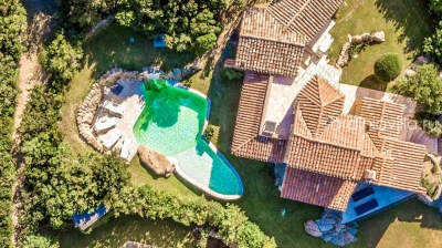 Сардиния Порто Черво вилла люкс с видом на море 10 гостей, бассейн N000/370