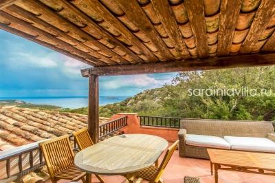 Сардиния вилла на Коста Смеральда, 5 минут от пляжа, вид на море, 5 спален N000/363